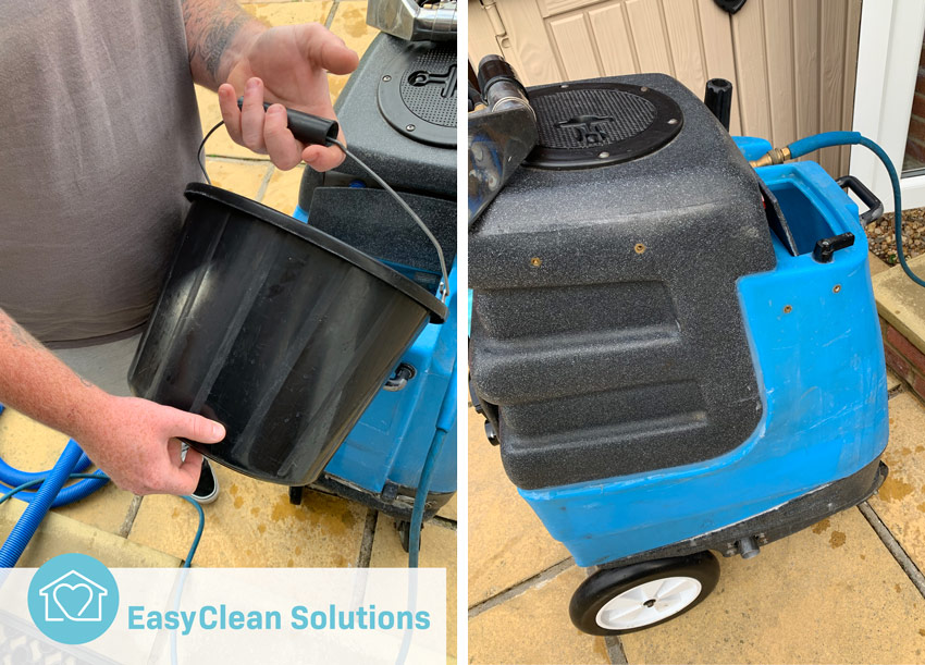 Hot water extraction carpet cleaning machine hire